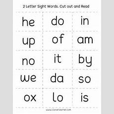 Two Letter Words Reading, Writing And Matching Worksheets For Preschool And Kindergarten Kids