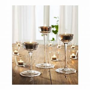 blomster candle holder set of 3 clear glass ikea With kitchen cabinets lowes with glass candle holder set of 3