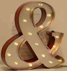 large vintage style light up marquee letter ampersand With large metal light up letters