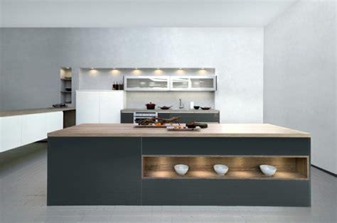 cuisine anthracite et bois cuisine gris anthracite 56 idées pour une cuisine chic