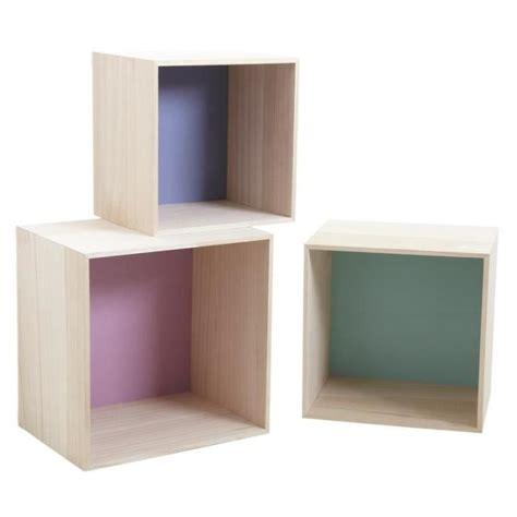 Cube En Bois S 233 Rie De 3 233 Tag 232 Res Cube En Bois Color 233 Es Achat Vente Etag 232 Re Murale S 233 Rie De 3 233 Tag 232 Res