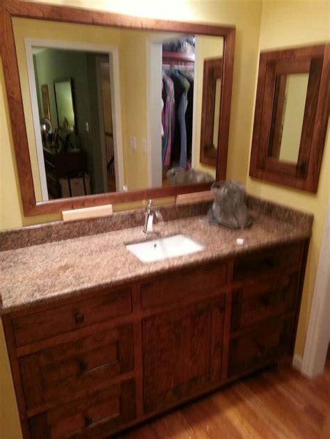 cherry  walnut stain  inset doors bathroom vanity