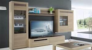 Meuble Tv Bois Massif Moderne : meuble tv meubles ~ Teatrodelosmanantiales.com Idées de Décoration