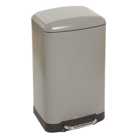 poubelle cuisine pedale 30 litres poubelle rectangulaire à pédale 30l taupe maison futée