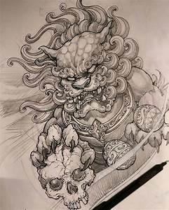 Foodog sketch by artist @davidhoangtattoo # ...
