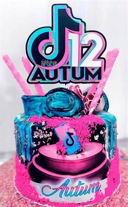 Tik Tok Cake Topper Decorations Age Birthday