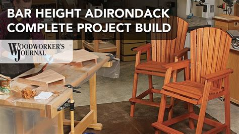 bar height adirondack chair project complete build video