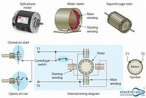 Split Phase Induction Motor On Power Transformer Wiring Diagram  Electrikals  Onlineshopping