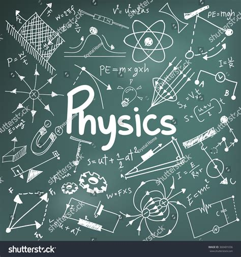 Physics Science Theory Law Mathematical Formula Stock