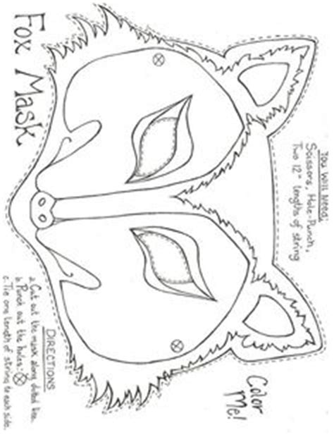 Fantastic Mr Fox Mask Template by Masks And Other Free Printable Animal Masks