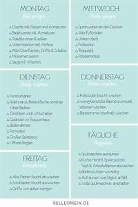 Haushalt Organisieren Plan Vorlage : mein w chentlicher putzplan f r ein sauberes zuhause home w chentlicher putzplan putzplan ~ Buech-reservation.com Haus und Dekorationen