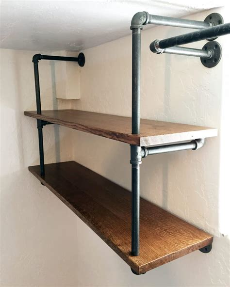 how to build a pipe l diy industrial pipe shelving chris