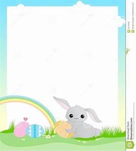 Easter border stock vector. Illustration of elegant ...