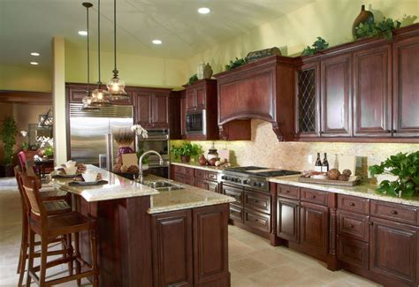 kitchen ideas with cherry cabinets 23 cherry wood kitchens cabinet designs ideas