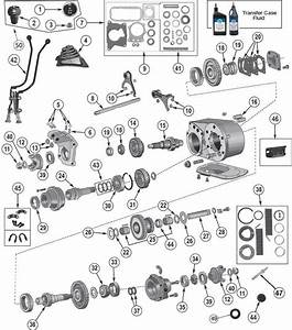 Dana 300 Transfer Case Exploded Parts View