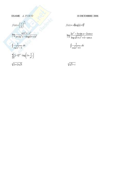 analisi matematica 1 dispense quesiti di analisi matematica 1