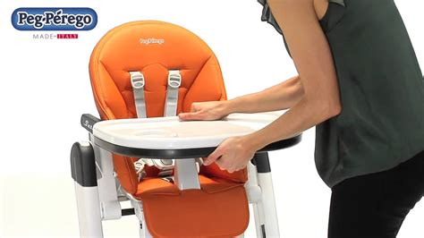 chaise haute siesta de peg perego youtube