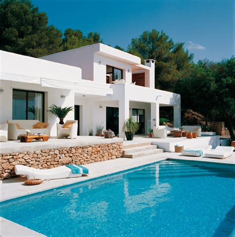 modern house plans with swimming pool white and modern house design in mykonos island greece freshnist