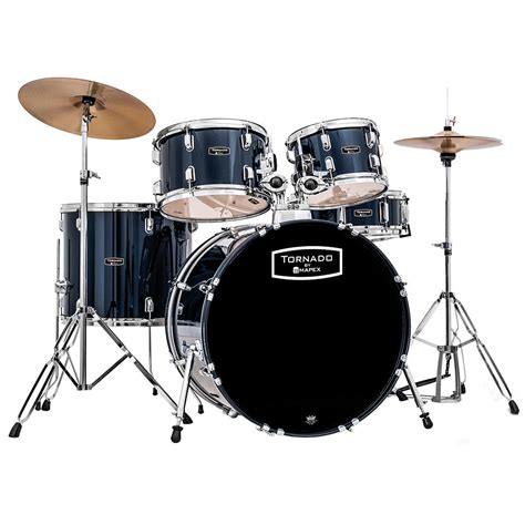 mapex tornado  royal blue drum set schlagzeug