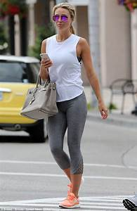 Make-up free Alex Gerrard reveals the results of her healthy lifestyle as she shows off smooth ...
