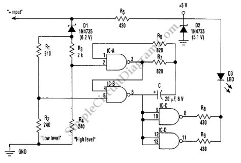 Battery Tester Indicator Monitor Circuit Diagram World