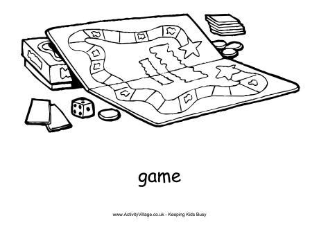 board game colouring page   bestofcoloringcom
