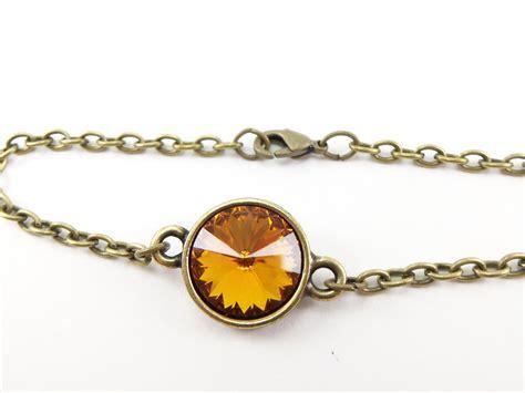 november birthstone jewelry citrine bracelet crystal november birthstone jewelry chain