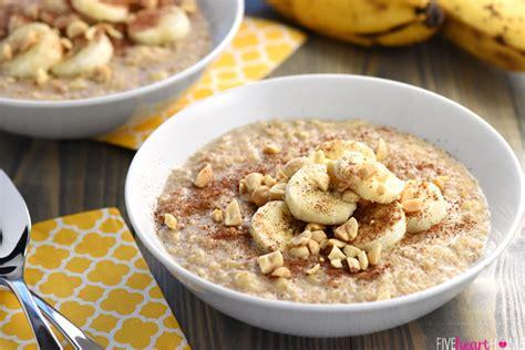 basic oatmeal recipe quick peanut butter banana oatmeal