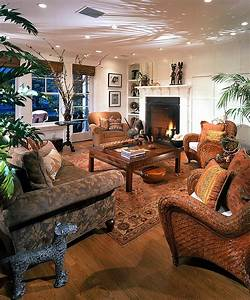 Vivacious, Tropical, Living, Room, With, An, Apparent, African, Design, Style