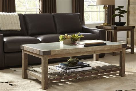Bluestone Top Brown Occasional Table Set From Furniture