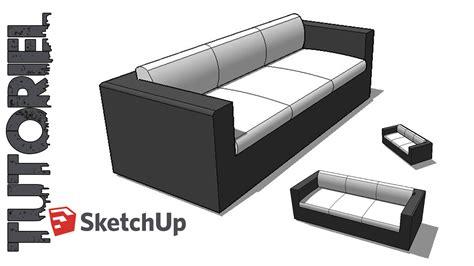 comment dessiner un canapé en perspective sketchup tutoriel dessin canapé 3 places