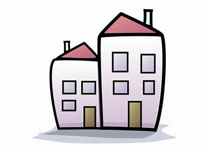 Cartoon Building Houses Buildings Homes Clip Vippng