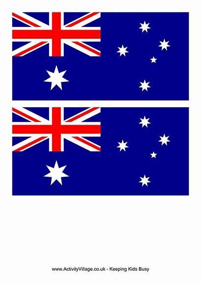 Flag Australia Printable Template Australian Flags Templates