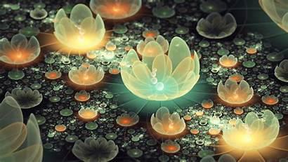 3d Flowers Lotus Pond Animated Desktop Wallpapers
