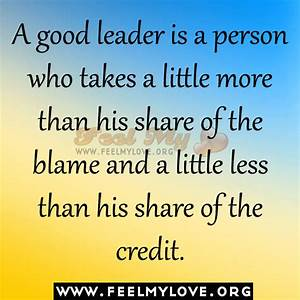 Good Leadership Quotes. QuotesGram
