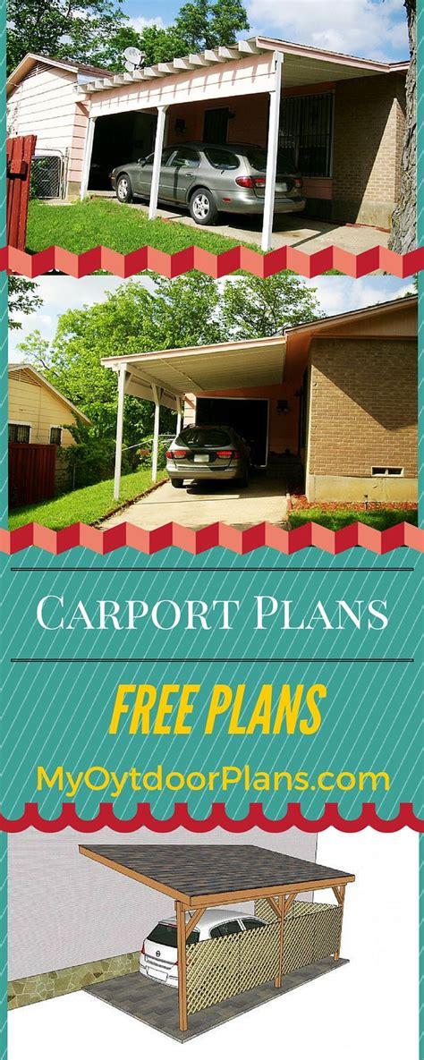build  attached carport  plans  easy