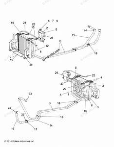 Polaris Side By Side 2015 Oem Parts Diagram For Engine  Water Cooling System