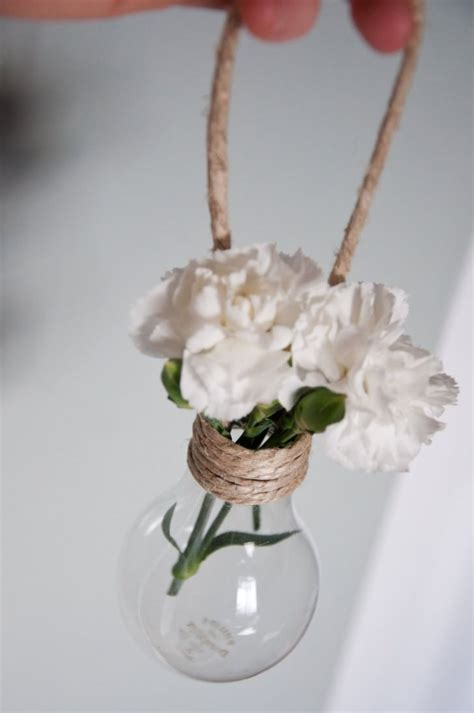 nice hanging light bulb vase decorations gift ideas