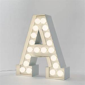 Seletti vegaz large metal letters lights 60cm panik design for Big metal letters with lights