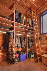 Hunting Closet in Garage Addition - Rustic - Closet - st