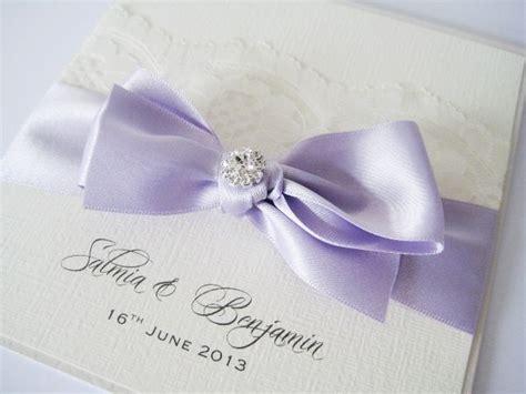 lace  orchid purple satin wedding invitation purple