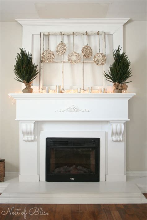 hanging lights for winter mantel decorating for winter nest of bliss