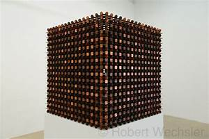 Sculptural cubes made from thousands of pennies by robert for Sculptural cubes made from thousands of pennies by robert wechsler