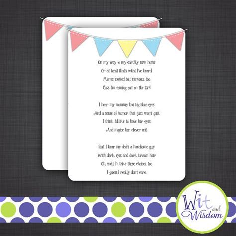 personalized baby shower poem write   poem baby