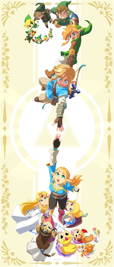 This Legend Of Zelda Art Featuring Generations Of Link And