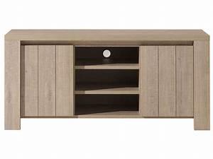 Bahut meuble TV BREST NATURE Meuble TV Conforama pas cher Iziva