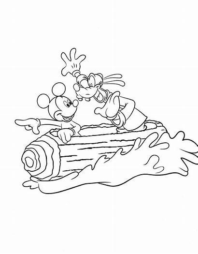 Coloring Disney Splash Mountain Mickey Goofy Walt