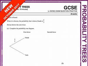 Gcse 9-1 Exam Question Practice  Probability Trees  By Maths4everyone - Teaching Resources