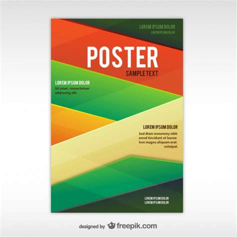 poster samples geometric abstract poster template vector free download