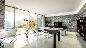 mur de pierre comme accent dans linterieur minimaliste With mur en pierre interieur design
